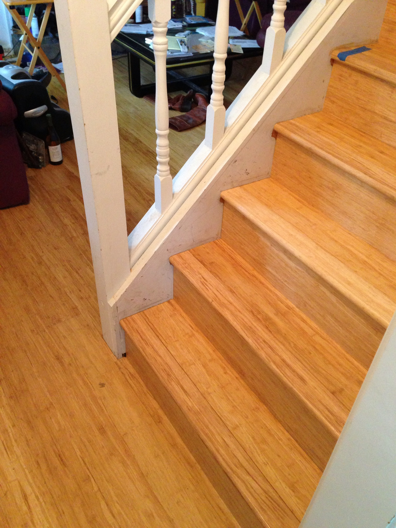 Strand Carbonized Solid Bamboo Staircase Treads & Risers Remodel