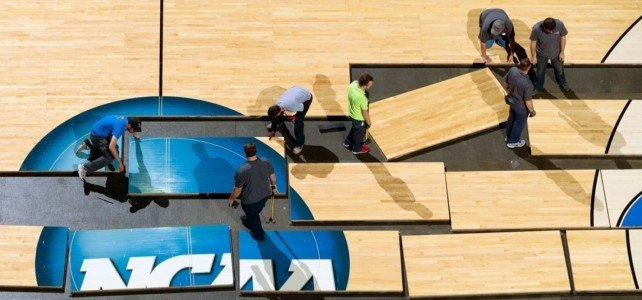 A Closer Look at the Process Behind NCAA Hardwood Courts