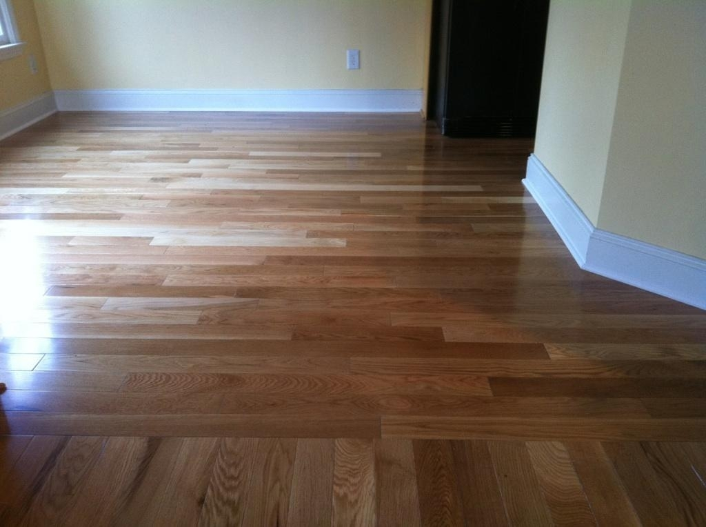Pre Finished Hardwood Flooring in Atlanta with a Custom Direction Change