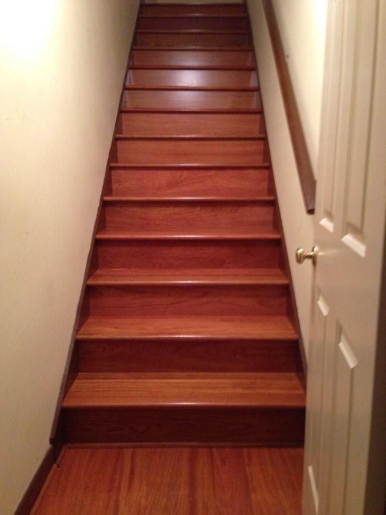 After Pic Hardwood Staircase Installation Cherry Atlanta Ga