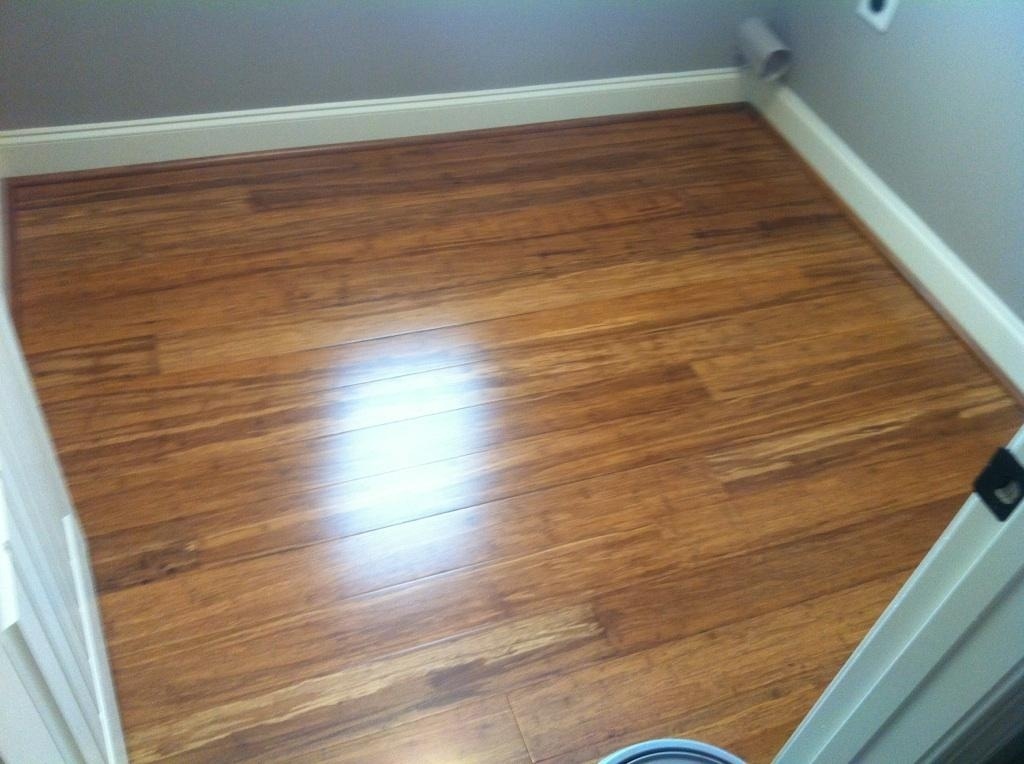 Strand Carbonized Solid Bamboo Hardwood Flooring Installed in Atlanta Ga