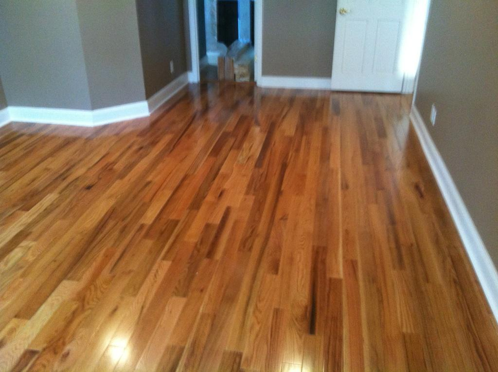 Pre Finished Natural Red Oak Hardwood Installation Metro