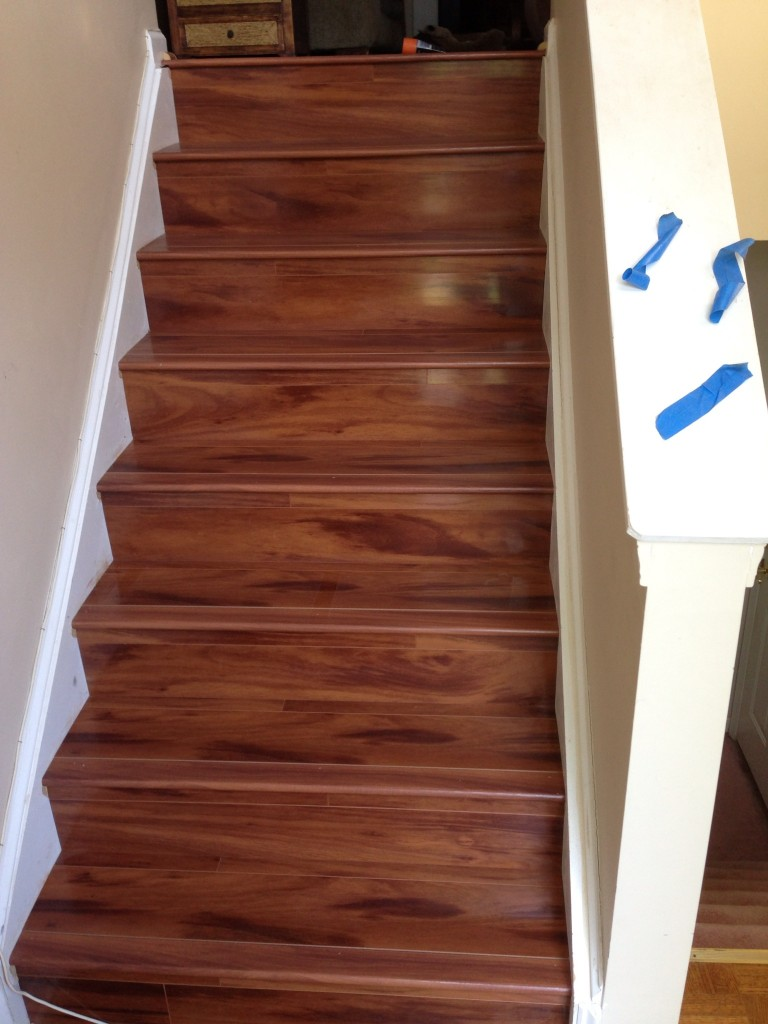 Laminate Staircase Remodel In Tucker Georgia Metro Atl