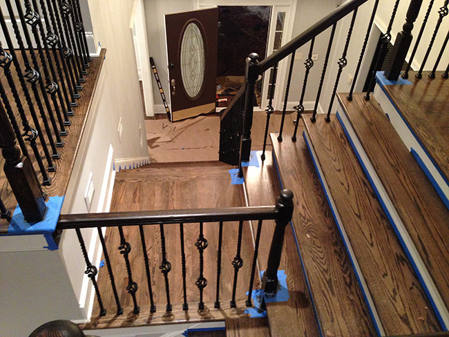 Remodeled Wood Staircase Marietta Ga 2