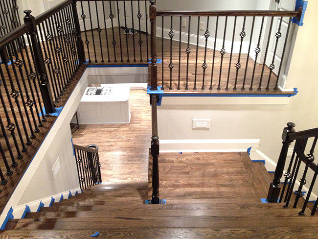 Remodeled Wood Staircase Marietta Ga