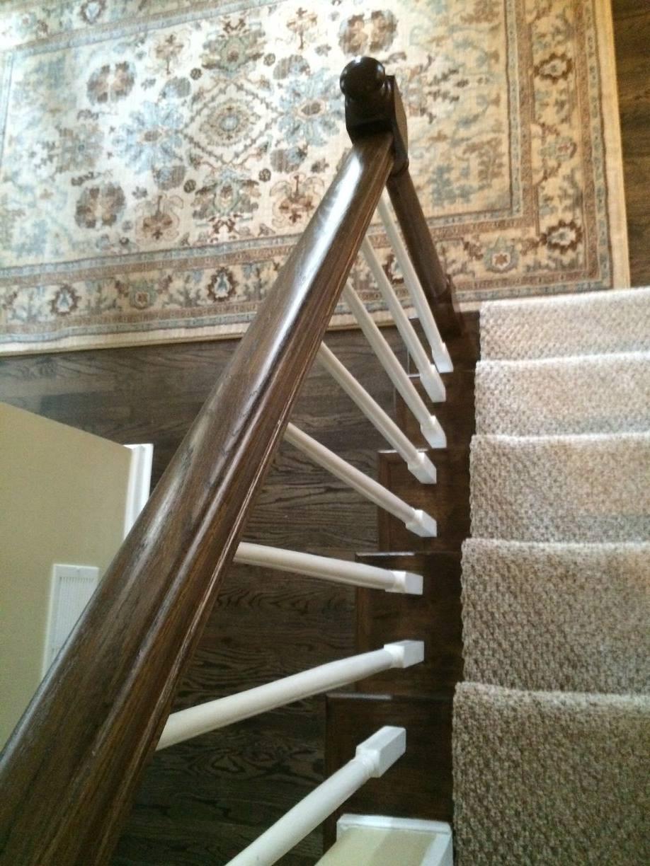 Jacobean Dark Stained Staircase Rail – Atlanta