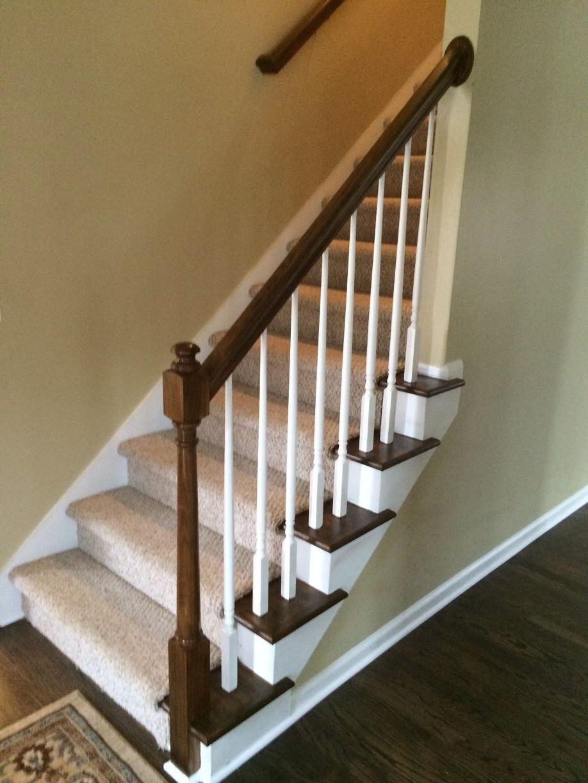 Jacobean Dark Stained Staircase Rail – Atlanta 3