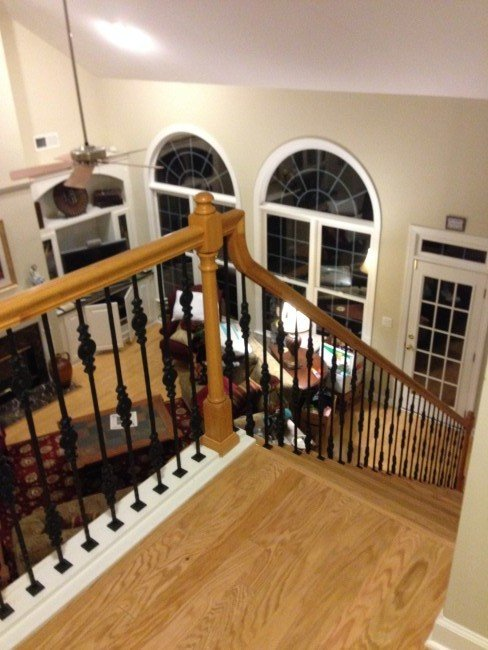 Staircase Rebuild & Iron Spindles