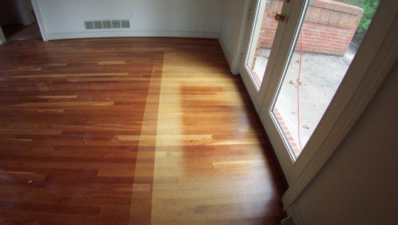 faded wood floors
